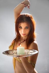Nefabit Candle Tray balancing Photo by John Austin