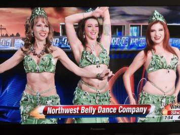 One of our appearances on the news promoting Arabesque! We were up at 4am for makeup, went home for a short nap, re-did our hair and makeup and were in the theater from 2pm-11pm for the show. Worth every second!