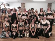 With the 2016 cast or Arabesque at dress rehearsal