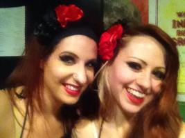With Nickie B backstage for a Rouge La Rue performance