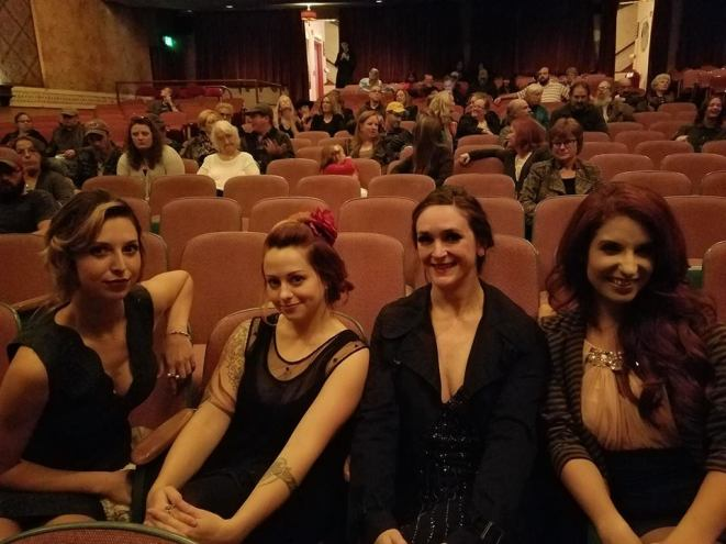 Look, we are IN the audience! Screening party for a movie Nickie B performed in