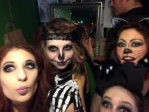 Backstage with skeletons and bats and cats for Phantasms and Fantasies at the Big Dipper