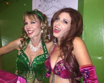 With Bridget, backstage for Soiree Orientale at the Big Dipper