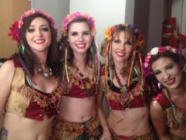 """One of the few backstage photos from Arabesque 2017! It was a tight show with short costume changes. Here we are in our costumes for the piece """"Wanderers"""""""
