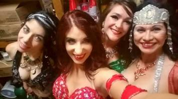 Backstage at Red Dragon with Paloma, Kori and Sha-Mal