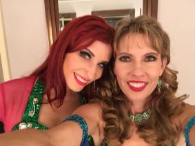 Bridget and I backstage at the Reserve. We were both sick for this show!
