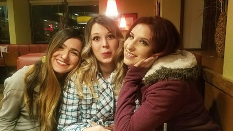 Dancing in Boise with Diandra and Molly Malone. At a Denny's at like 2am trying to be awake! We drove almost 10 hours through a blizzard on the way back. What an adventure!